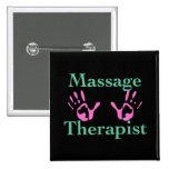 Terapeuta del masaje: Impresiones rosadas de la ma Pin Cuadrada 5 Cm