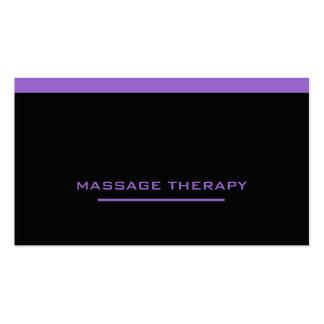 Terapeuta del masaje tarjetas de visita