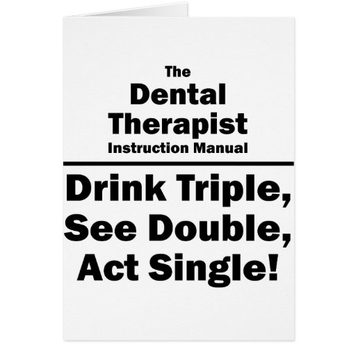 terapeuta dental tarjeta pequeña