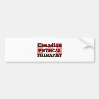 Terapeuta físico canadiense pegatina para auto
