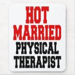 Terapeuta físico casado caliente tapete de ratón