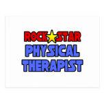 Terapeuta físico de la estrella del rock postal