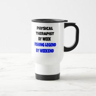 Terapeuta físico de la leyenda de la pesca taza de viaje