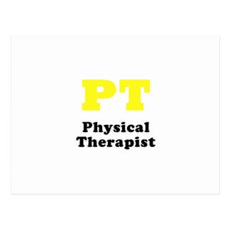 Terapeuta físico de la pinta tarjetas postales