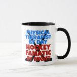 Terapeuta físico del amante del hockey