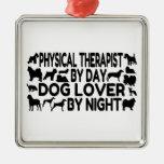 Terapeuta físico del amante del perro adorno de reyes
