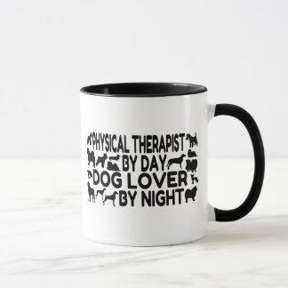 Terapeuta físico del amante del perro taza