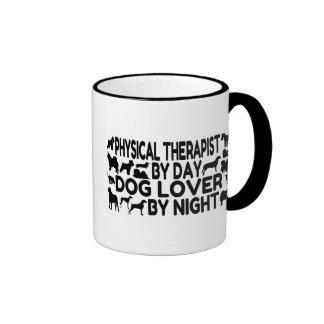 Terapeuta físico del amante del perro taza de dos colores