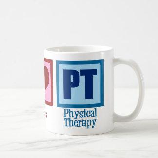 Terapeuta físico del amor de la paz tazas