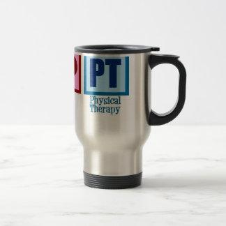 Terapeuta físico del amor de la paz taza de viaje