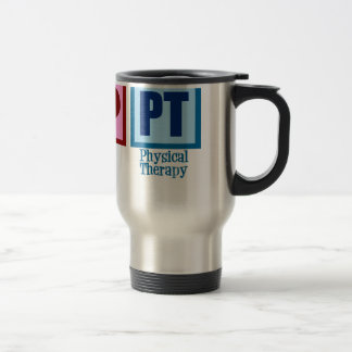 Terapeuta físico del amor de la paz taza térmica