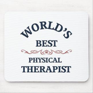 Terapeuta físico del golpe del mundo tapetes de ratones