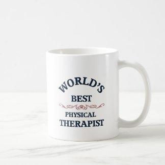 Terapeuta físico del golpe del mundo taza clásica