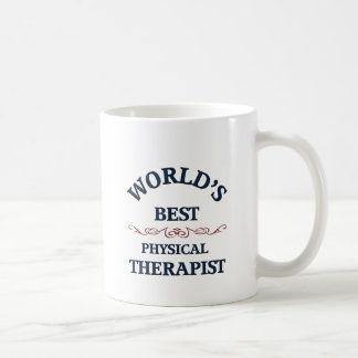 Terapeuta físico del golpe del mundo taza de café