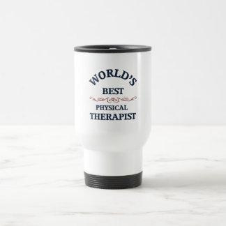 Terapeuta físico del golpe del mundo taza térmica