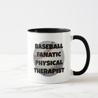 Terapeuta físico fanático del béisbol taza