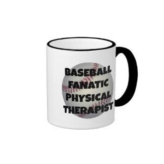 Terapeuta físico fanático del béisbol taza de dos colores