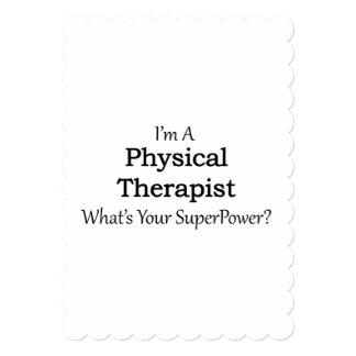 """Terapeuta físico invitación 5"""" x 7"""""""