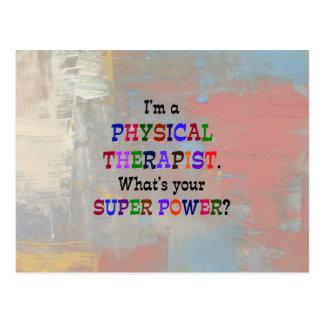 Terapeuta físico tarjeta postal