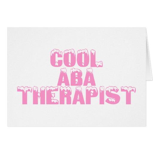Terapeuta fresco del ABA (rosa) Tarjetas