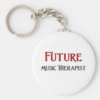 Terapeuta futuro de la música llaveros personalizados
