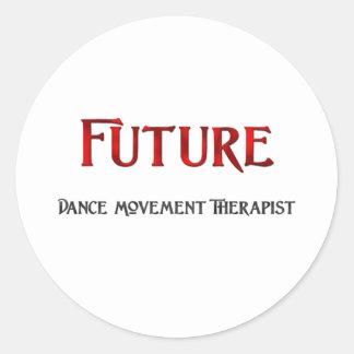 Terapeuta futuro del movimiento de la danza pegatina redonda
