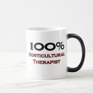 Terapeuta hortícola del 100 por ciento tazas
