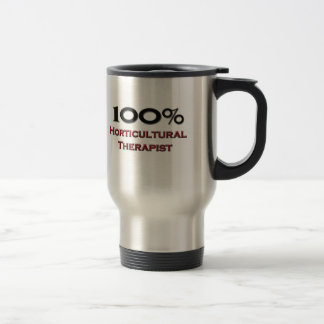 Terapeuta hortícola del 100 por ciento taza de café