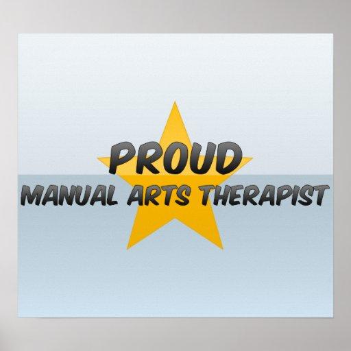 Terapeuta manual orgulloso de los artes poster