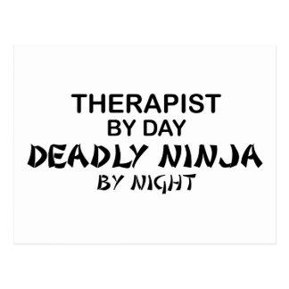 Terapeuta Ninja mortal por noche Postal