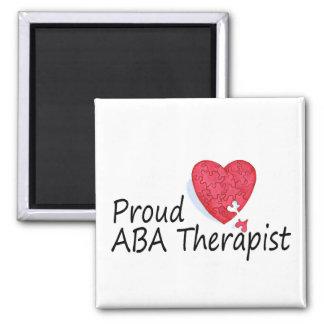 Terapeuta orgulloso del ABA Imán Cuadrado