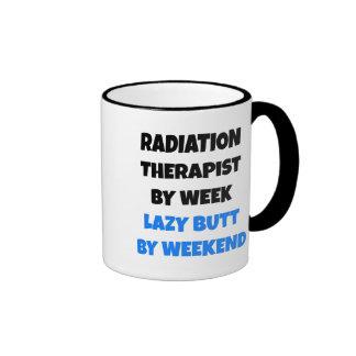 Terapeuta perezoso de la radiación del extremo taza de dos colores
