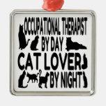 Terapeuta profesional del amante del gato adorno