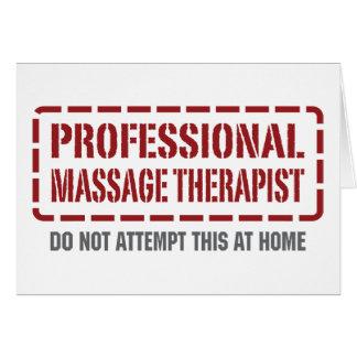 Terapeuta profesional del masaje tarjeta de felicitación