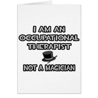 Terapeuta profesional… no un mago tarjeta de felicitación