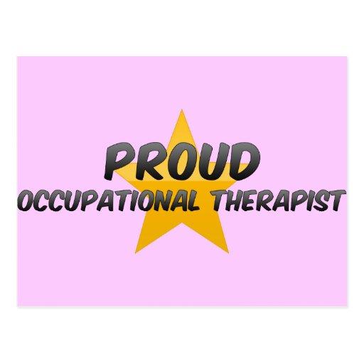 Terapeuta profesional orgulloso tarjetas postales