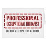 Terapeuta profesional profesional felicitaciones