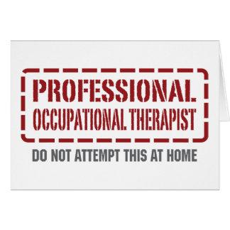 Terapeuta profesional profesional tarjeta de felicitación