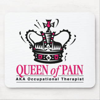 Terapeuta profesional - reina del dolor alfombrilla de ratón