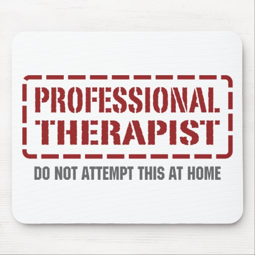 Terapeuta profesional tapetes de ratón