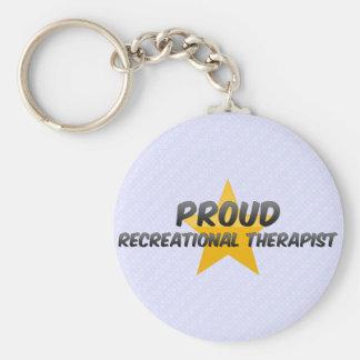 Terapeuta recreativo orgulloso llaveros
