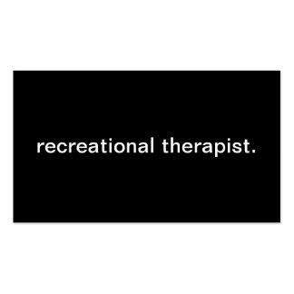 Terapeuta recreativo tarjetas de visita