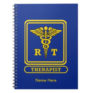 Terapeuta respiratorio spiral notebooks