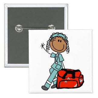Terapeuta respiratorio de sexo femenino o EMT Pin Cuadrada 5 Cm