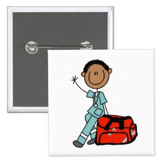 Terapeuta respiratorio de sexo masculino o EMT Pin Cuadrada 5 Cm