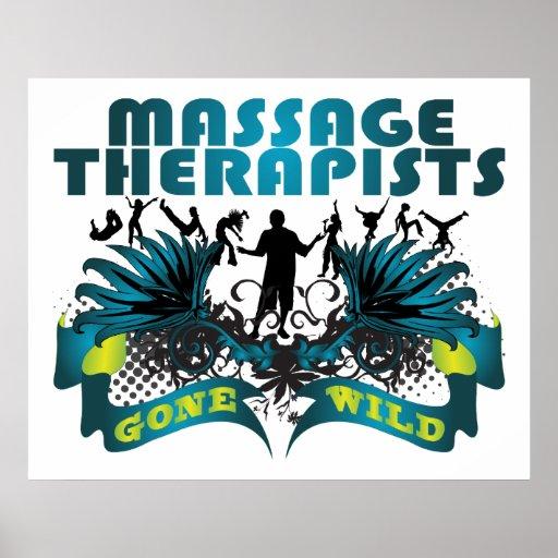 Terapeutas del masaje idos salvajes póster