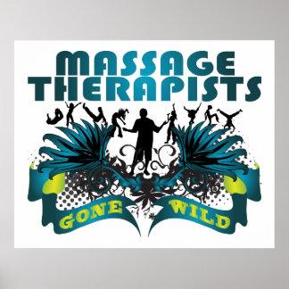 Terapeutas del masaje idos salvajes posters