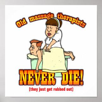 Terapeutas del masaje póster