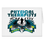 Terapeutas físicos idos salvajes felicitacion