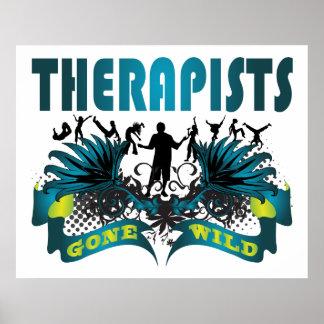 Terapeutas idos salvajes poster